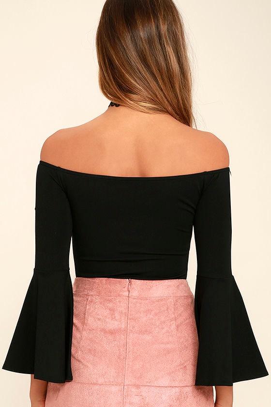 Good One Black Off-the-Shoulder Bodysuit 5