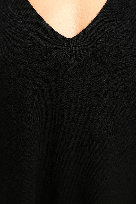 Ticket to Cozy Black Oversized Sweater 6