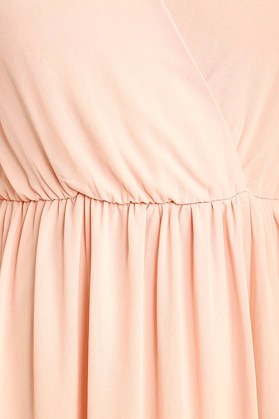 Wondrous Water Lilies Blush Pink Maxi Dress 6