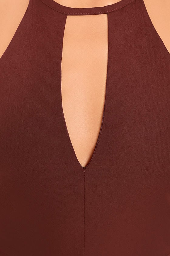 Beauty and Grace Burgundy Maxi Dress 6