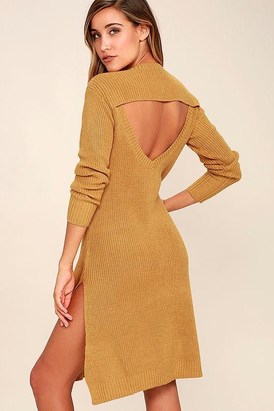 Somedays Lovin' Honey Jam - Knit Dress - Sweater Dress - Midi Dress