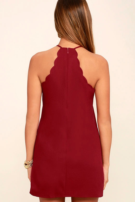 Endlessly Endearing Wine Red Dress 4