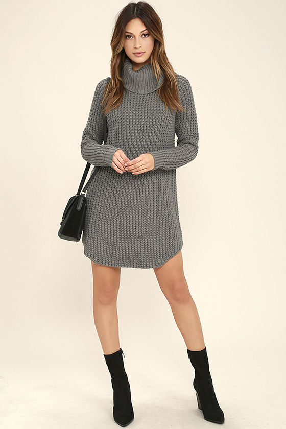 a9e65ab096 Element Eden Eleventh - Grey Sweater Dress - Knit Sweater Dress -  69.95
