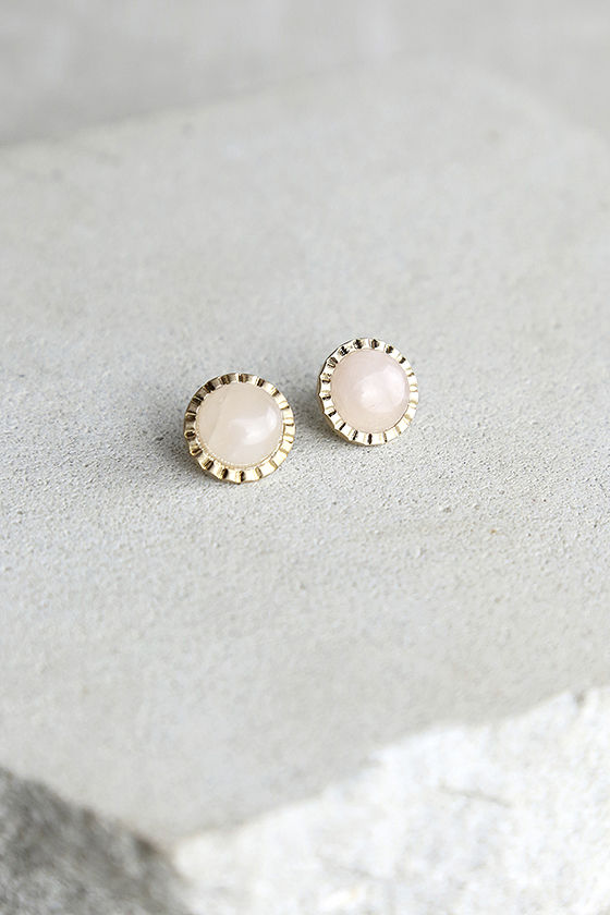 Kiss List Gold and Pink Earrings 1