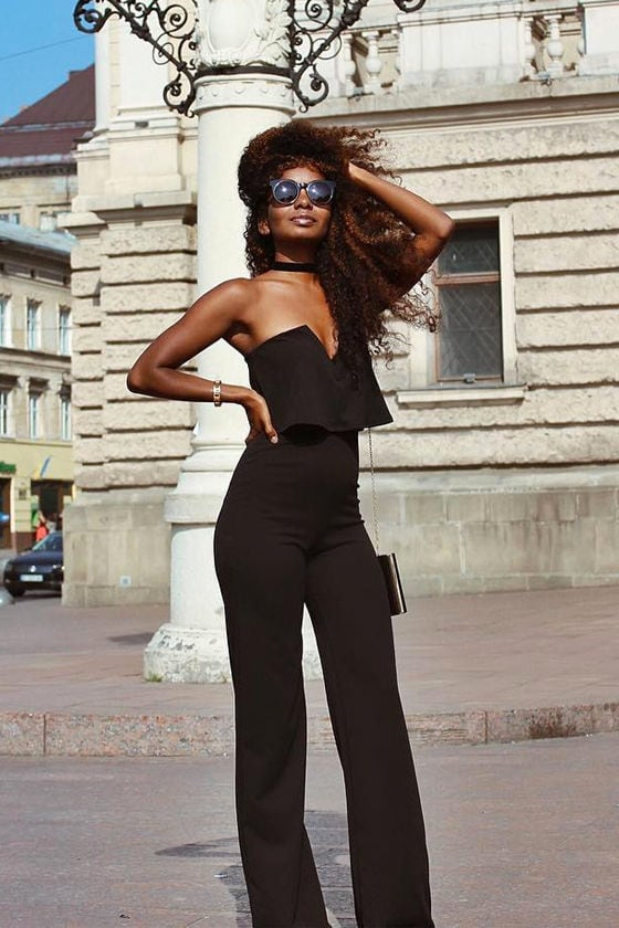 Power of Love Black Strapless Jumpsuit 8