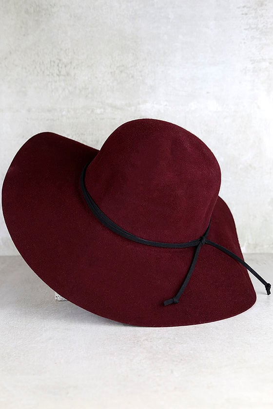 Cute Burgundy Hat - Wool Hat - Floppy Hat - Sun Hat -  30.00 08e6c0a95