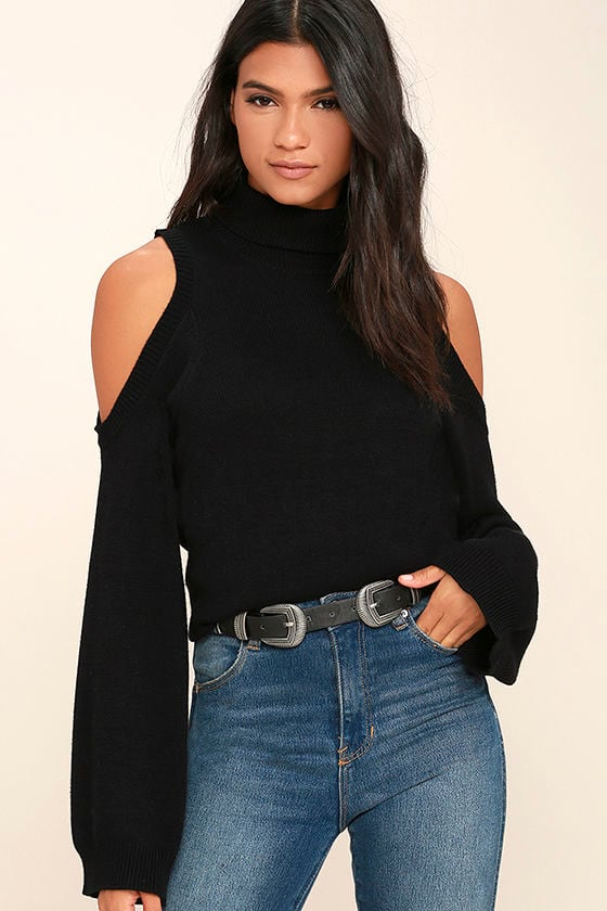 Spoiler Alert Black Turtleneck Sweater 1
