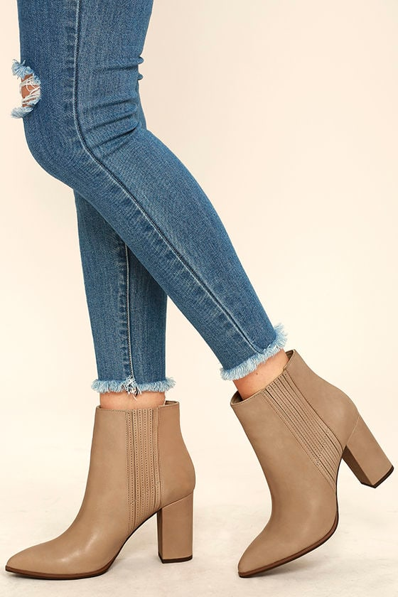 823602166c7f1 Cute Light Grey Boots - Ankle Boots - Booties - Pointed Boots - $167.00
