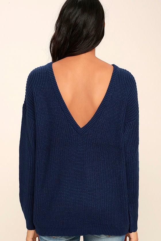 Island Ferry Navy Blue Sweater 4