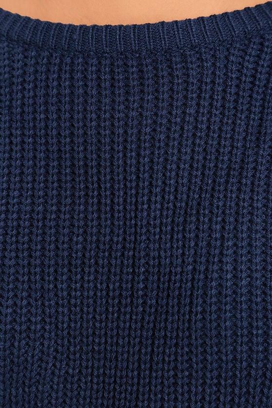 Island Ferry Navy Blue Sweater 6