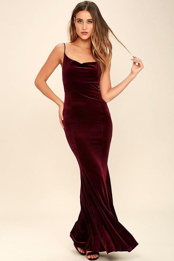 Velour maxi dresses