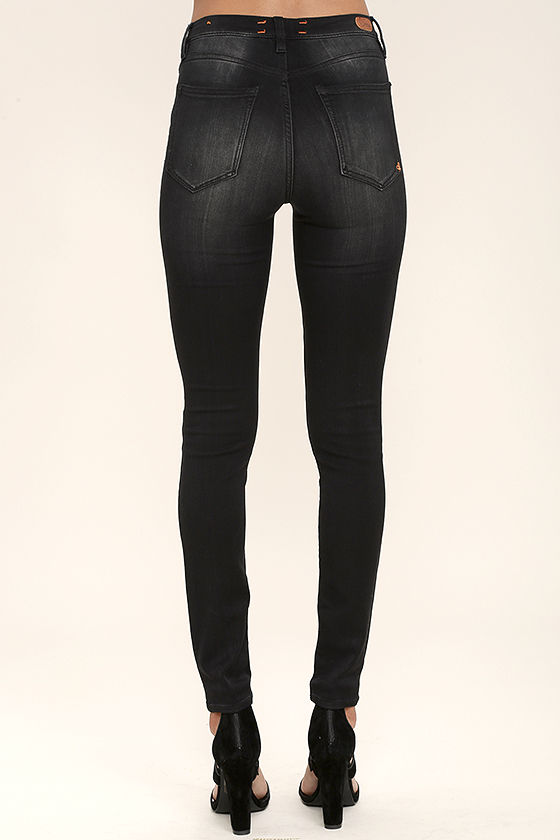 Dittos Kelly - Black Jeans - High-Waisted Skinny Jeans - Jeggings ...