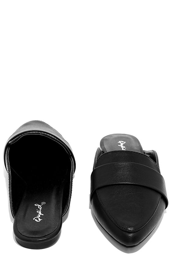 Chiavari Black Loafer Slides 3