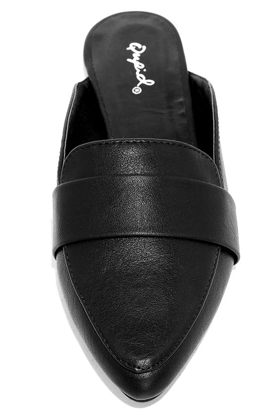 Chiavari Black Loafer Slides 5