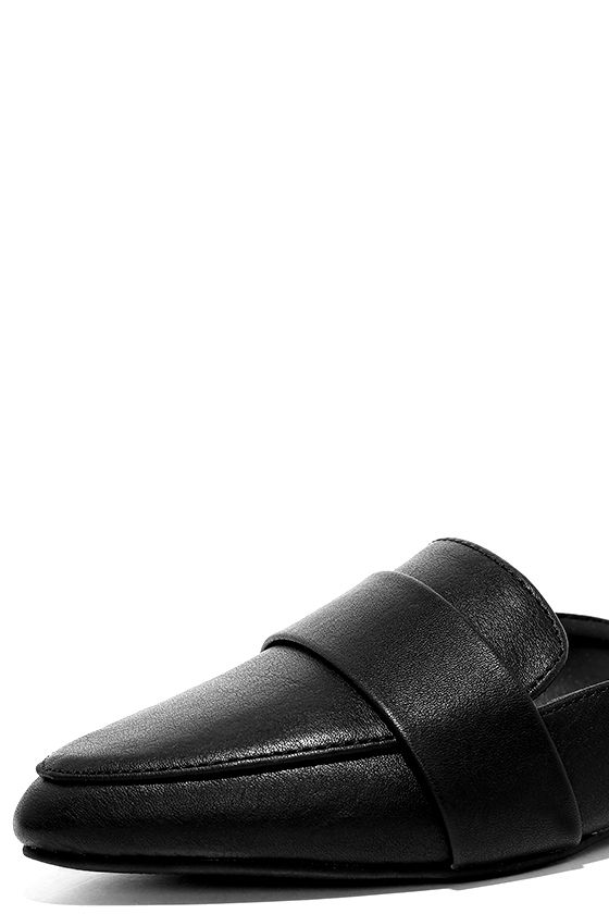 Chiavari Black Loafer Slides 6