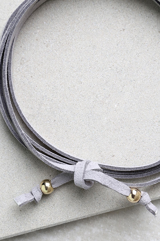 Staying Power Grey Wrap Necklace 3