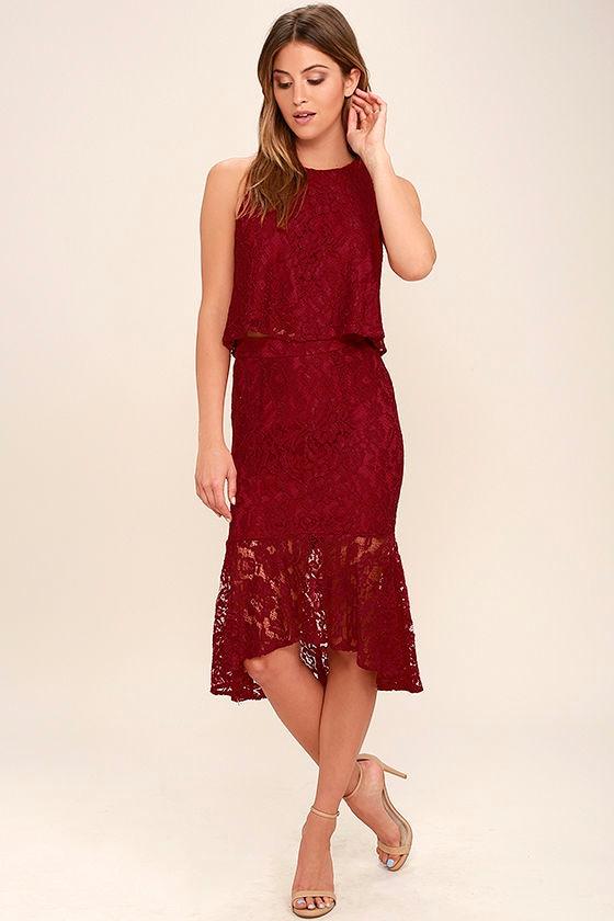Dark Red Cocktail Dress