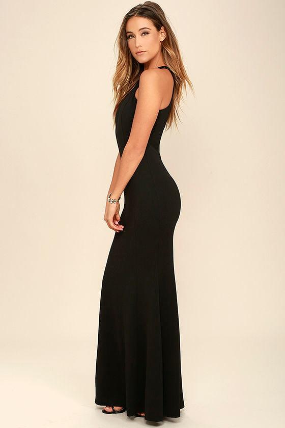 Girl in the Mirror Black Beaded Maxi Dress 2
