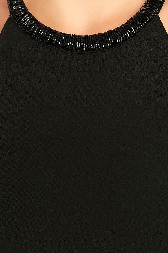 Girl in the Mirror Black Beaded Maxi Dress 6