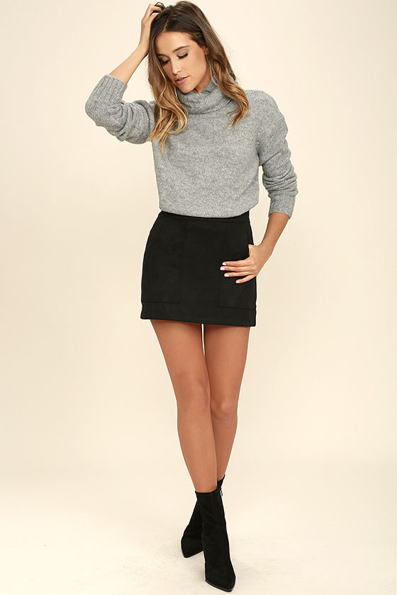 Favorite Dream Heather Grey Turtleneck Sweater 3
