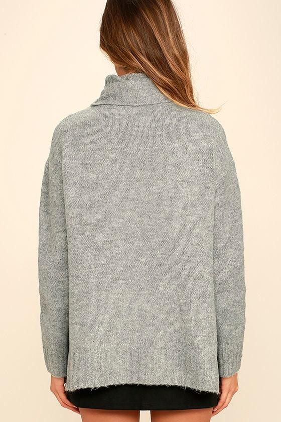 Favorite Dream Heather Grey Turtleneck Sweater 5