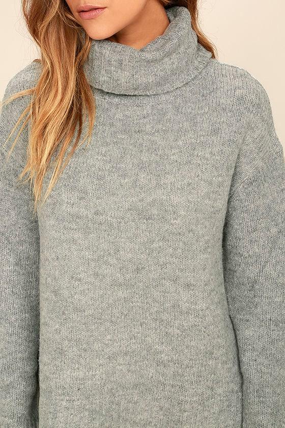 Favorite Dream Heather Grey Turtleneck Sweater 6