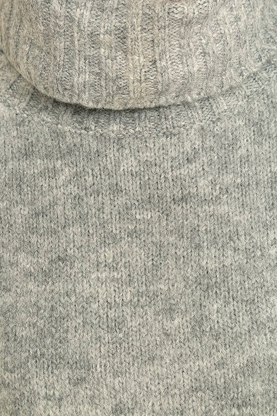 Favorite Dream Heather Grey Turtleneck Sweater 7
