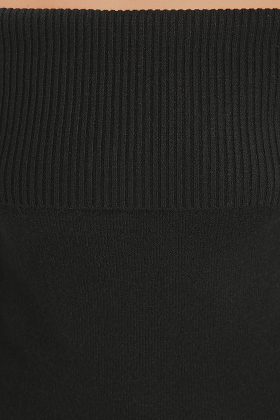 That's What Friends Are For Black Off-the-Shoulder Sweater 6