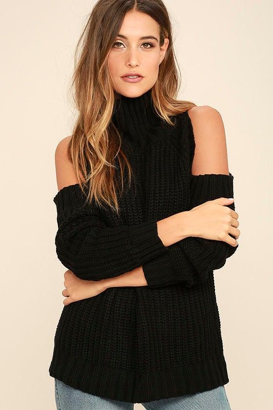 She's Got a Way Black Turtleneck Sweater 1