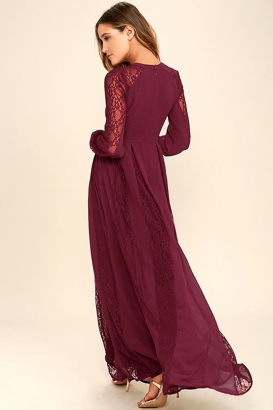 Maxi dress burgundy estate