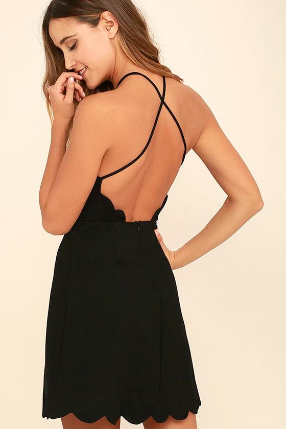 Your Everything Black Backless Skater Dress 1