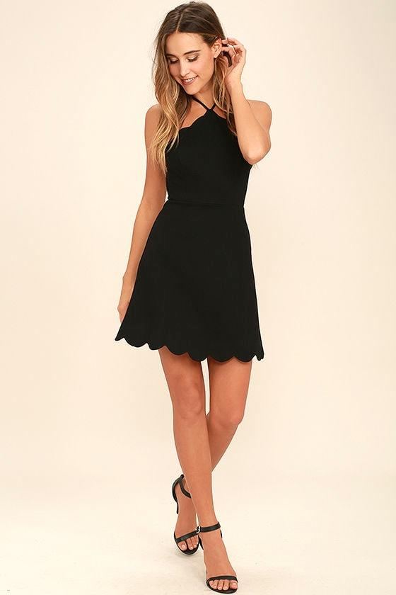 Your Everything Black Backless Skater Dress 2