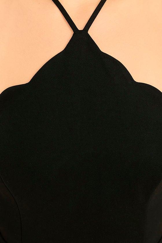 Your Everything Black Backless Skater Dress 6