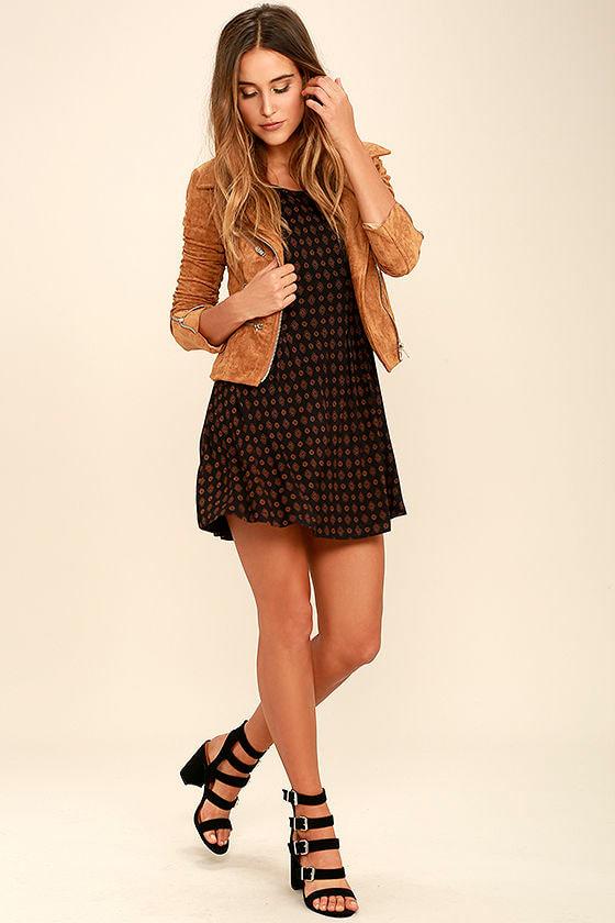 RVCA Sylas Black Print Dress 2