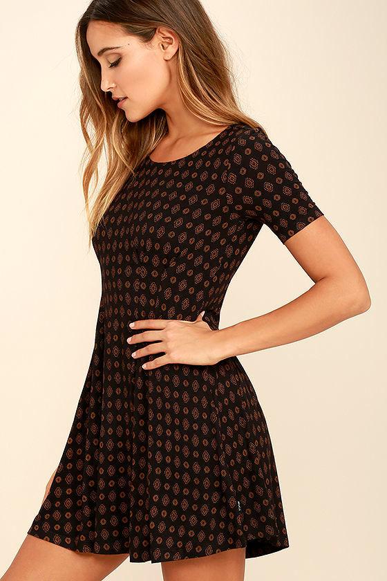 RVCA Sylas Black Print Dress 3