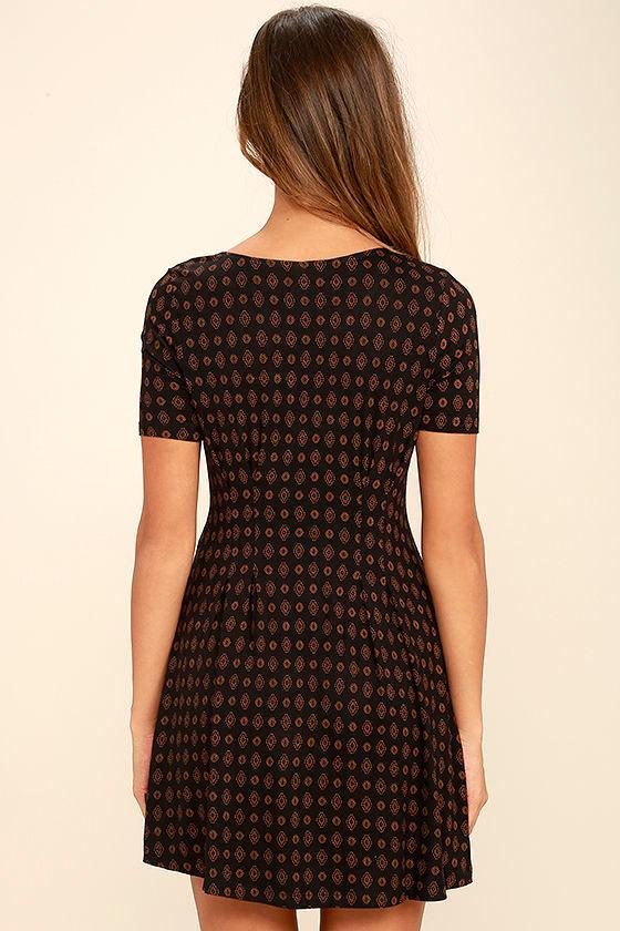 RVCA Sylas Black Print Dress 4