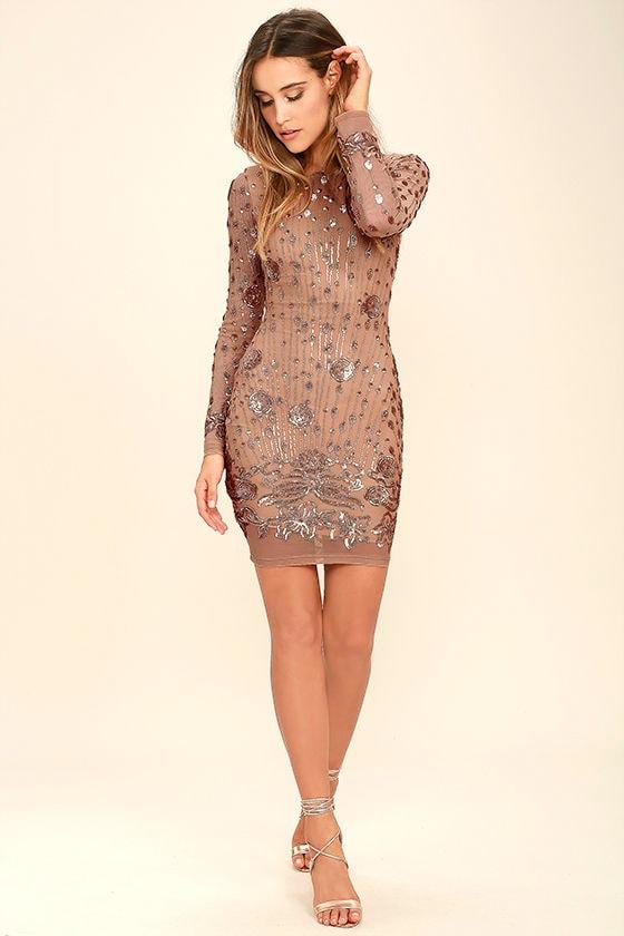 9fcf2d87104 Stunning Gold Dress - Sequin Dress - Bodycon Dress - $98.00