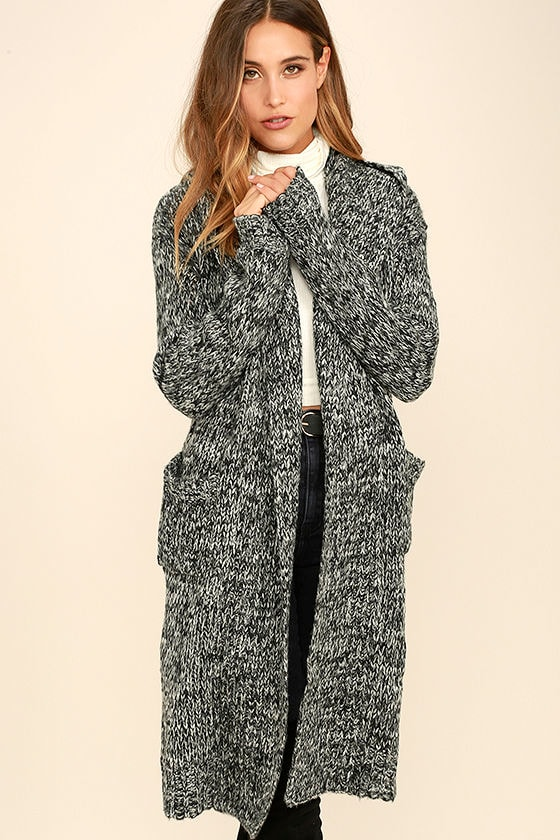 Cardigan Black And White 6