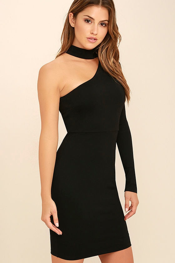 All I Half Black One Shoulder Dress 3