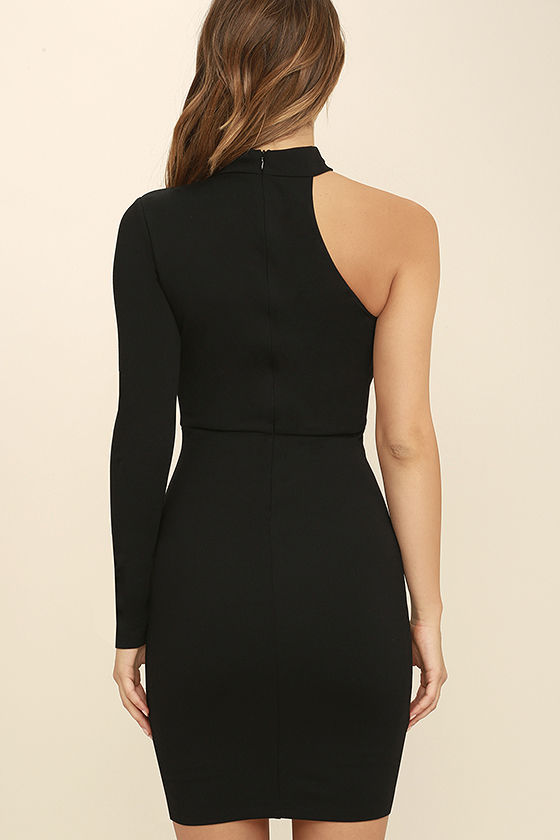 All I Half Black One Shoulder Dress 4