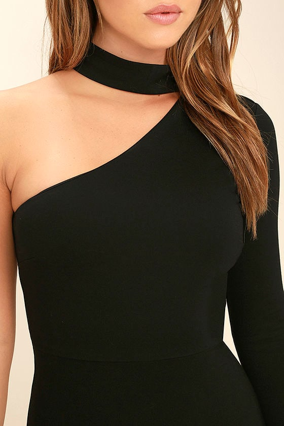 All I Half Black One Shoulder Dress 5