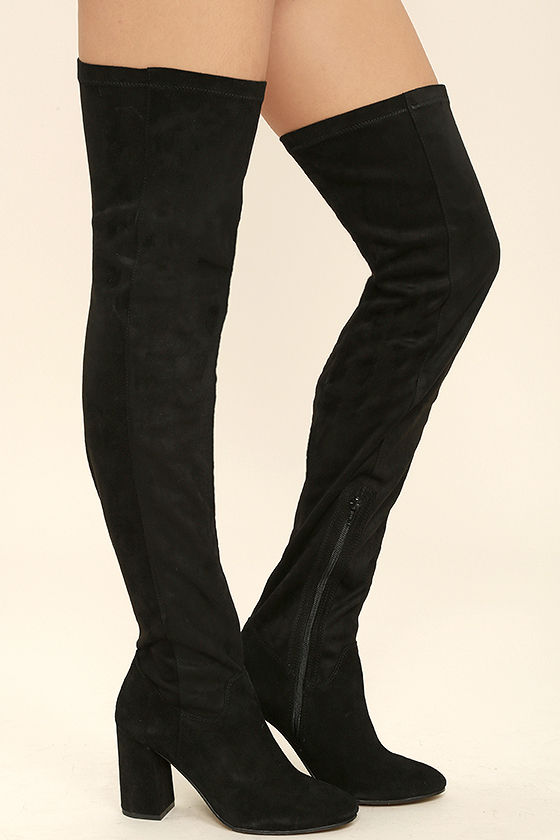 Seychelles Chrysalis Black Suede Leather Thigh High Boots 3