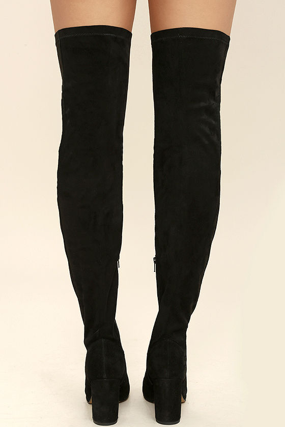 Seychelles Chrysalis Black Suede Leather Thigh High Boots 4