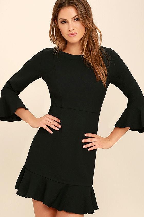 3f5ff3aa29 Chic Black Dress - Long Sleeve Dress - Sheath Dress -  62.00