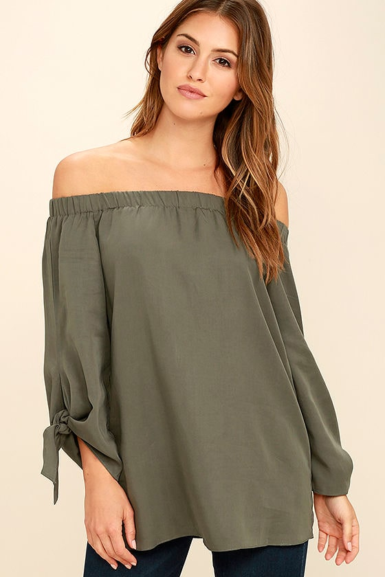 Off the Shoulder Long Sleeve Tops