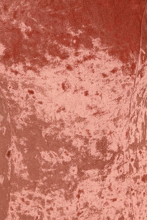 Sway My Options Rusty Rose Velvet Maxi Dress 6