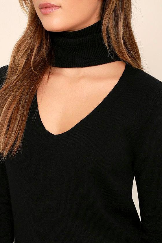 Sweetest Devotion Black Turtleneck Sweater Dress 5