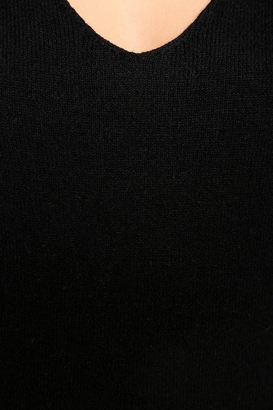 Sweetest Devotion Black Turtleneck Sweater Dress 6
