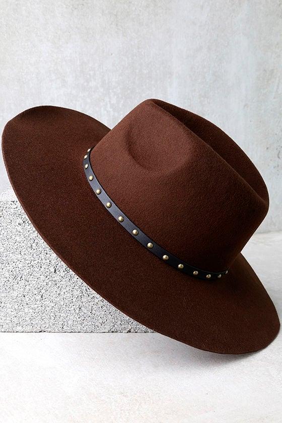 914e2c733a7a7 Amuse Society Hayworth - Dark Brown Hat - Felt Hat - Wool Hat - Wide Brim  Fedora -  54.00