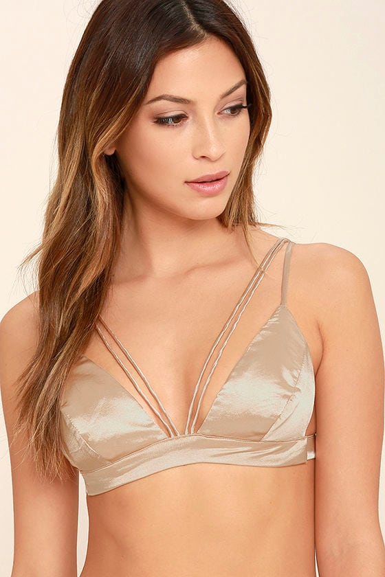 dbcbad930b Fresh Eyes Light Gold Satin Bralette